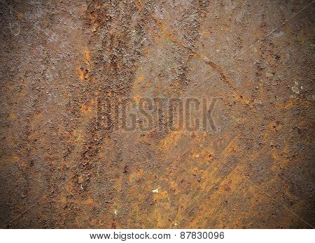 Rust Color Metal Texture Background