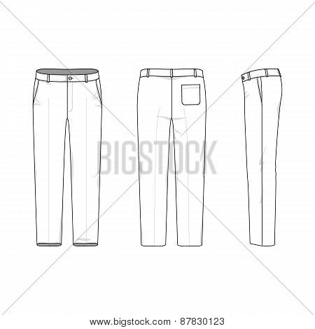 Simple Outline Drawing Of A Pants