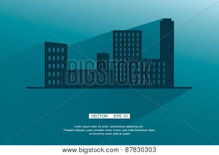 Modern Business City Concept, Shade. Vector background