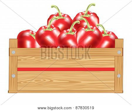Red pepper in box