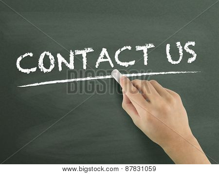 Contact Us Words Written By Hand