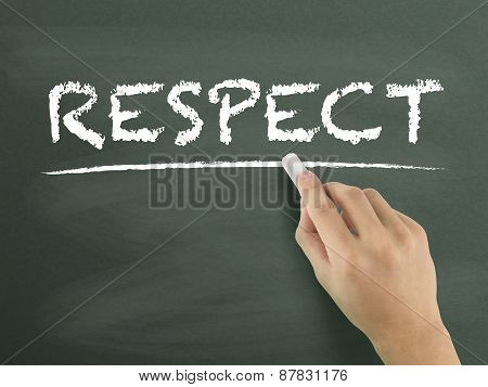 Respect Word Written By Hand