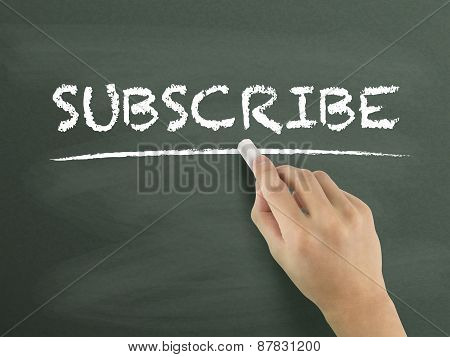 Subscribe Word Written By Hand