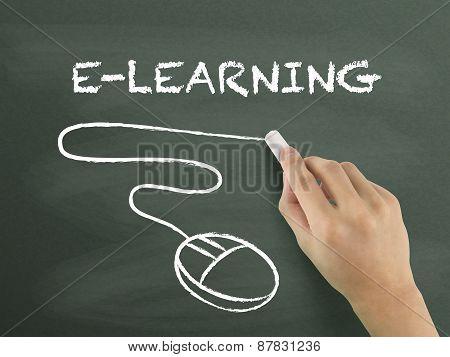 E-learning Word Written By Hand