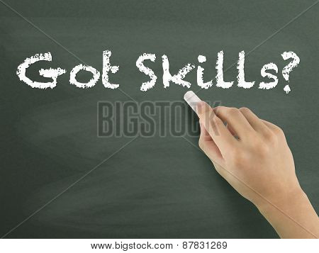 Got Skills Words Written By Hand