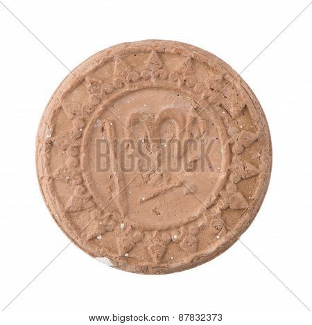 Antique Ancient Ceramic Coin