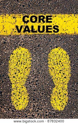 Core Values  Message. Conceptual Image