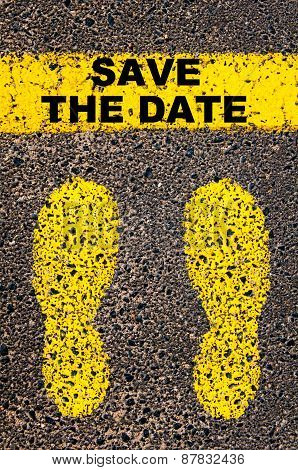 Save The Date Message. Conceptual Image