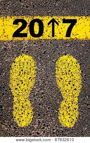 Year 2017 Is Coming Message. Conceptual Image