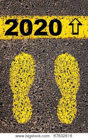Year 2020  Is Coming Message. Conceptual Image