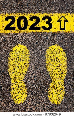 Year 2023  Is Coming Message. Conceptual Image