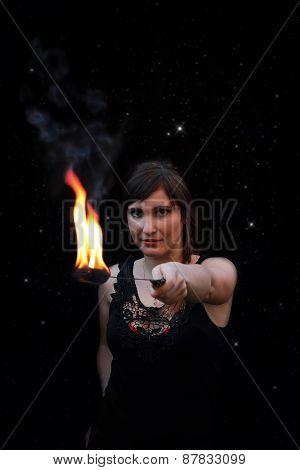 Female Fire Eater