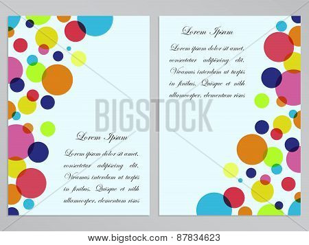 Flyers with colorful circles design