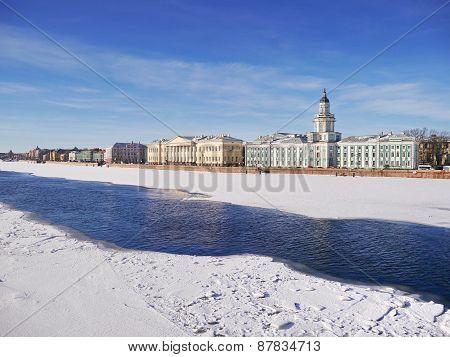View of University embankment (Saint-Petersburg)