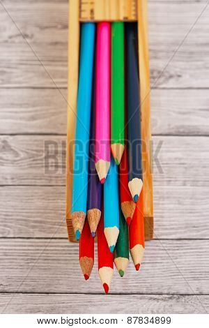 Display Of Colored Pencils