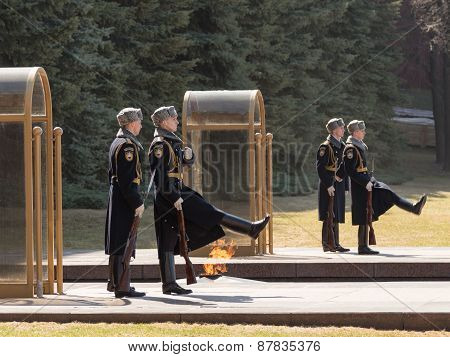 Change Of The Guard Of Honor At The Tomb Of The Unknown Soldier