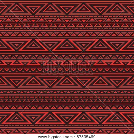 Red geometric seamless background.