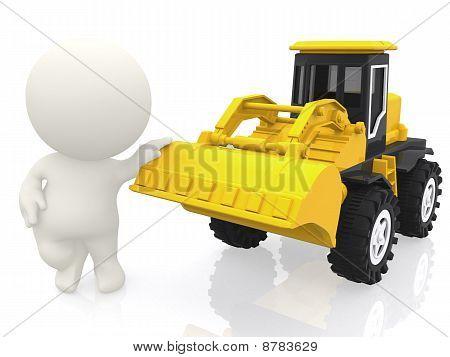 3D Guy With A Bulldozer
