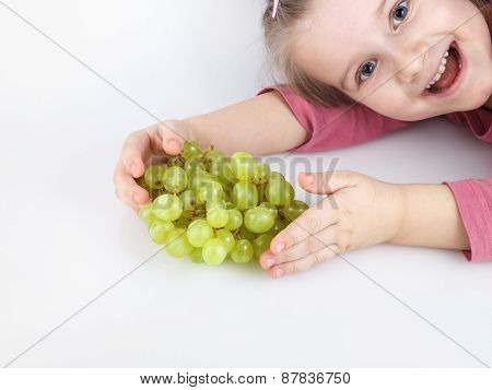 Child And Grapes