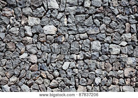 Grey lava stone wall