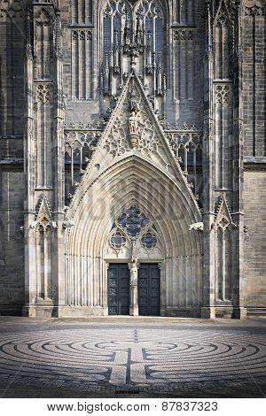 Entrance Cathedral Magedburg