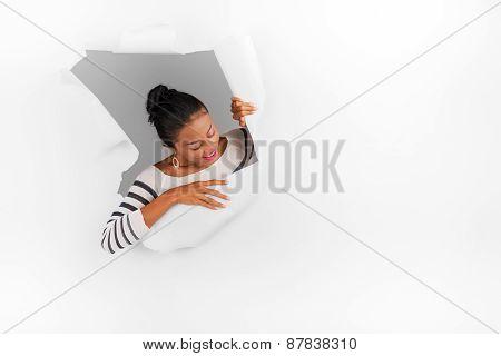 Breaking through paper