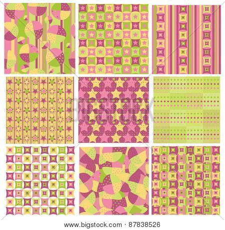 Vector set colorful patterns.