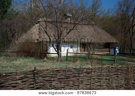 Old Ukrainian wooden house