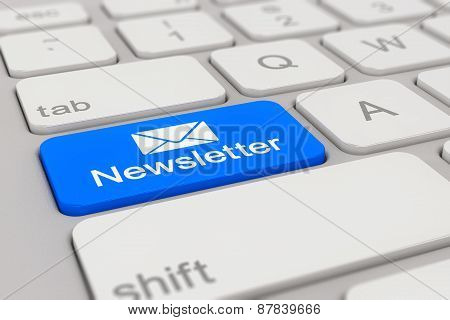 Keyboard - Newsletter - Blue