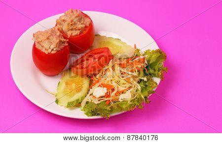 Tuna In Tomatoe Salad