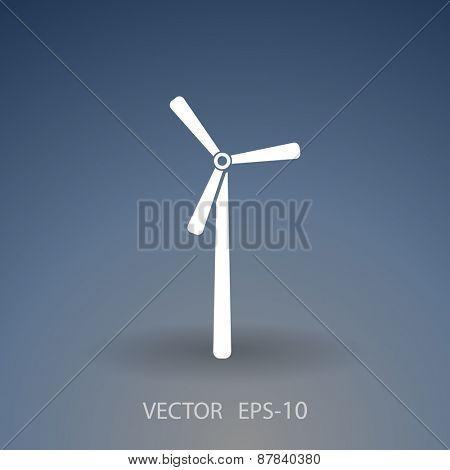 Flat a windmill icon
