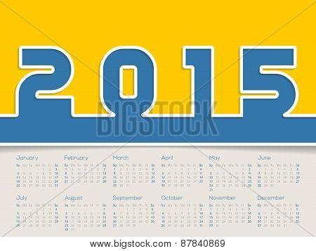 Simplistic 2015 Calendar