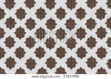 embroidered patterns on a white background