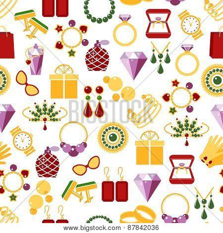 Jewelry seamless pattern background