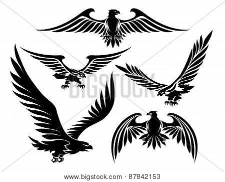 Heraldic eagle icons