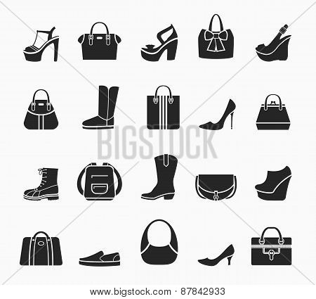 Women bags and shoes