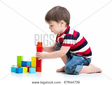 kid little boy playing on floor