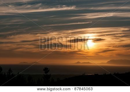 Sun Setting Across False Bay