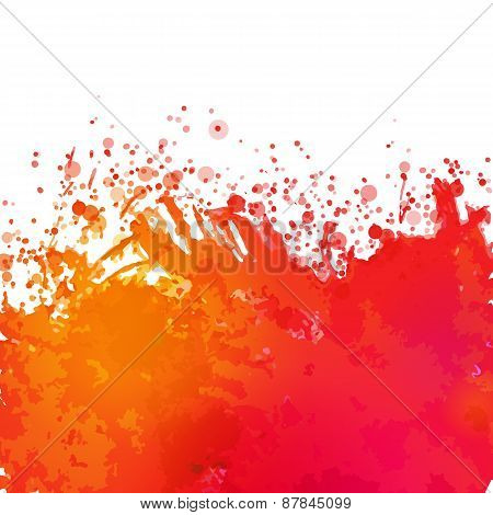 Vector Watercolor Drawing Abstract Background