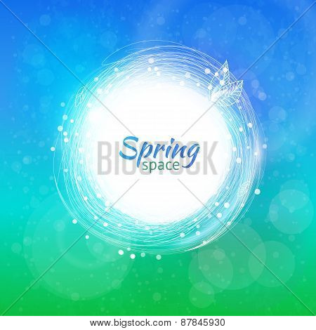 Vector Color Swirl Ring For Spring Background