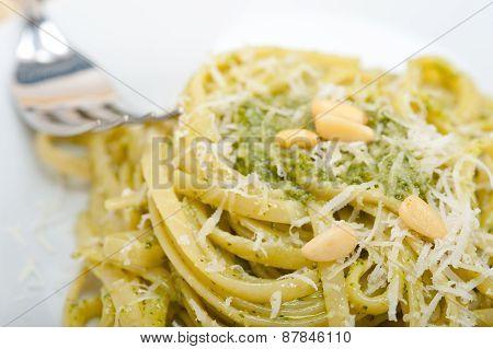Italian Traditional Basil Pesto Pasta Ingredients