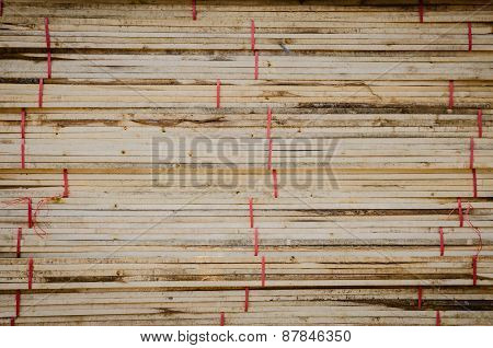 Stacked Wood Fence Lumber