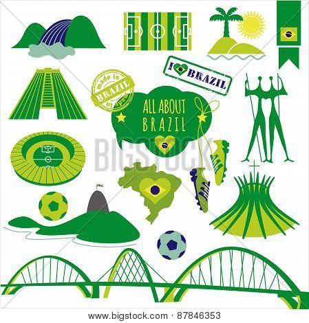 Vector illustration of Brazil.