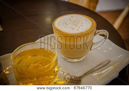 Cappuccino With Hot Tea