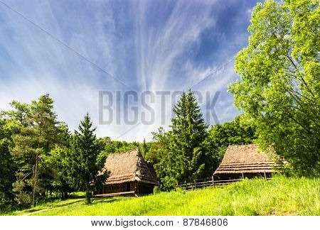 Old Farmhouse From Carpathian Region.