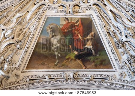 SALZBURG, AUSTRIA - DECEMBER 13: Fragment of the dome in the Chapel of Saint Martin, Salzburg Cathedral on December 13, 2014 in Salzburg, Austria.