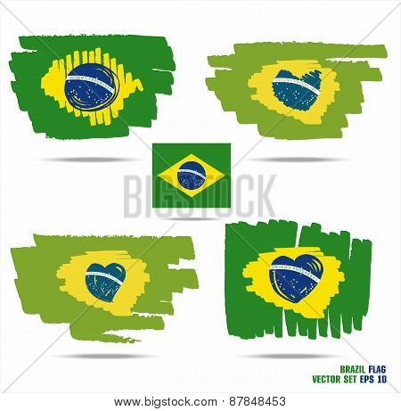 Set of flags from Brazil