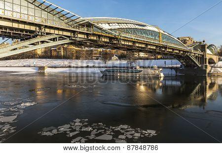 Pedestrian bridge Bogdan Khmelnitsky.