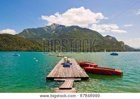 Mountain Lake Wolfgangsee
