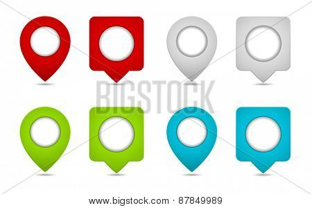 pin map marker pointer icon design element